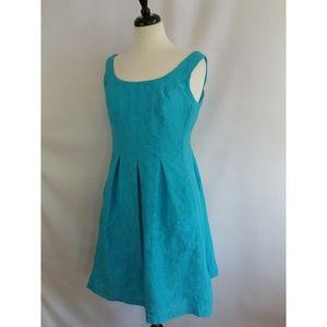 Nine West Size 14 Blue Sleeveless Dress Blue